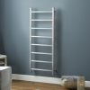 Diva Brushed Stainless Steel Heated Towel Rail - 1200 x 500mm