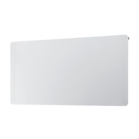 White Horizontal Glass Radiator - 600 x 800mm