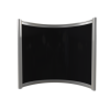 GRADE A1 - Far Infrared Heater Black Curved Panel Aluminium 400W - 550 x 500mm