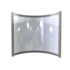 Far Infrared Heater White Curved Panel Aluminium 400W - 550 x 500mm