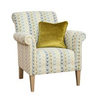 York Accent Retro Floral with Teal Scatter Cushion