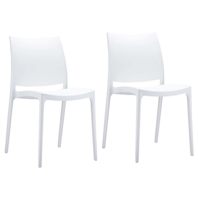 Spice White Dining Chair - Set of 2
