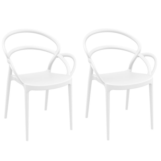 Mila White Dining Chair - Set of 2