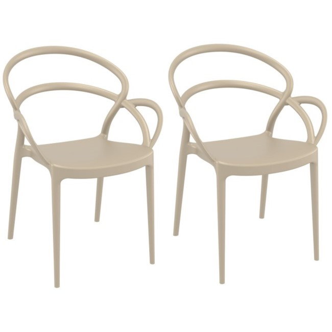 Mila Taupe Dining Chair - Set of 2