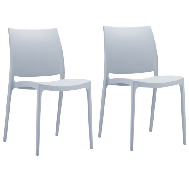 Spice Silver Grey Dining Chair - Set of 2
