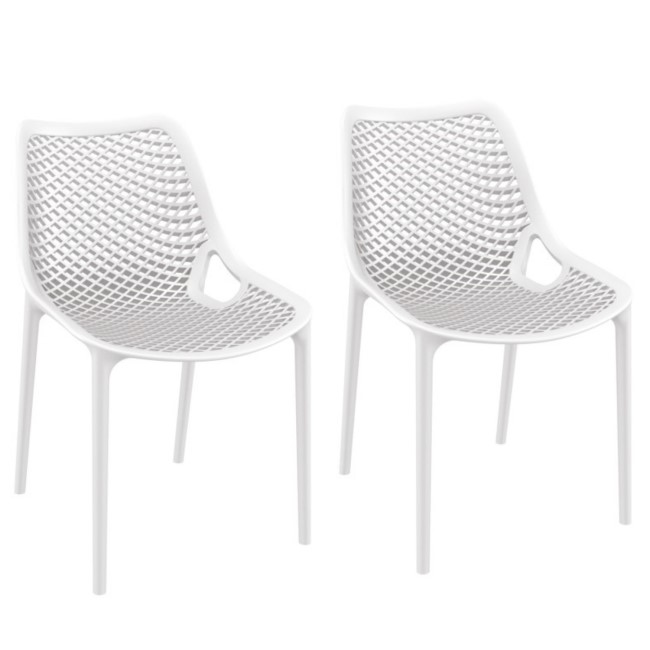 Spring White Dining Chair - Set of 2