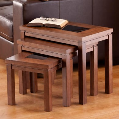 GRADE A3  World Furniture Nevada Nest of Tables in Walnut