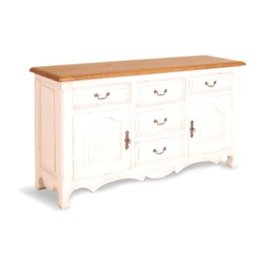 Signature North French Chic 2 Door 4 Drawer Sideboard  antique white