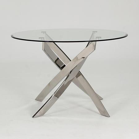 Wilkinson Furniture Kalmar Round Glass Dining Table  Furniture