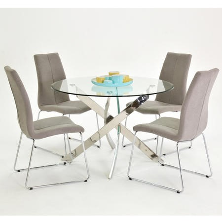 Vida Living Kalmar Round Glass Dining Table