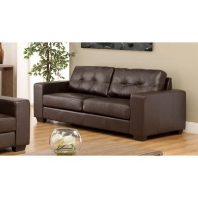 World furniture durban 3 seater in brown for Furniture 123
