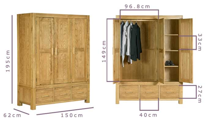 Bedford 3 Door Wardrobe Assembly Instructions