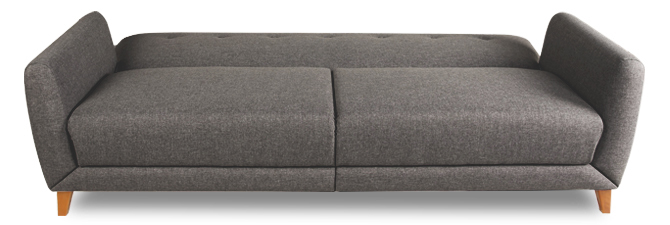 Grade a3 archer 3 seater fabric sofa bed in grey for Furniture 123 code