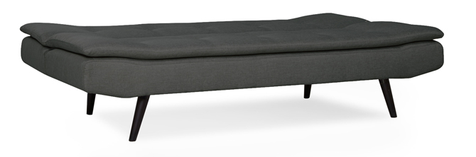 Barker click clack 2 seater fabric sofa bed in dark grey for Furniture 123 code