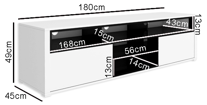 Evoque sound bar TV unit dimensions