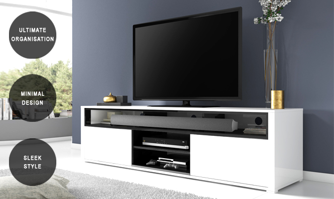 Evoque sound bar TV unit