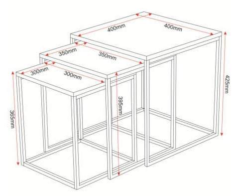 nest of tables dimensions