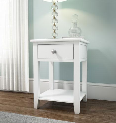 Grade a1 harper solid wood 1 drawer bedside table in for Furniture 123 code