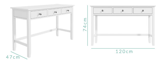 Harper dressing table dimensions