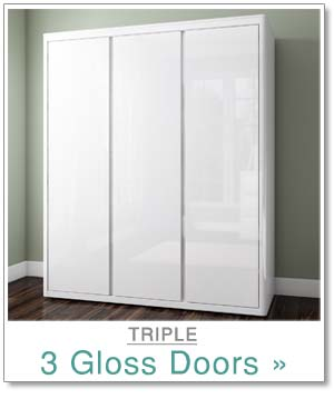 Lexi triple robe with gloss doors