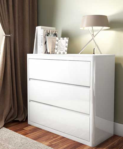 Lexi white chest of drawers