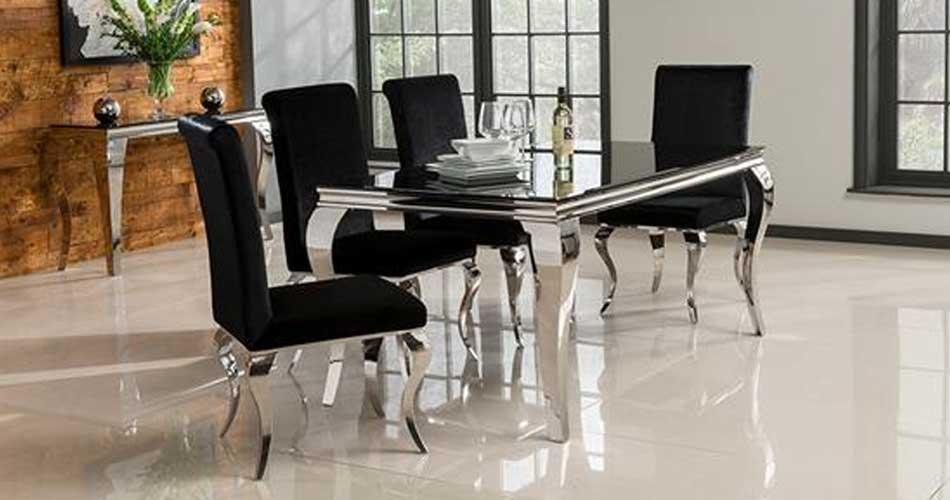 Wilkinson Furniture Louis 160cm Dining Table In Black