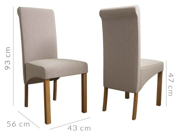 New Haven dining chair dimensions