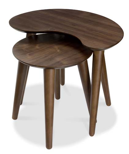 Bentley designs oslo walnut nest of tables furniture123 for Furniture 123 code