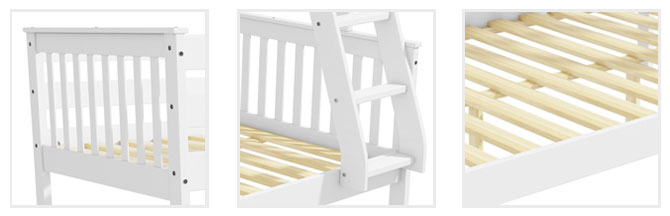 Oxford white double bunk detail