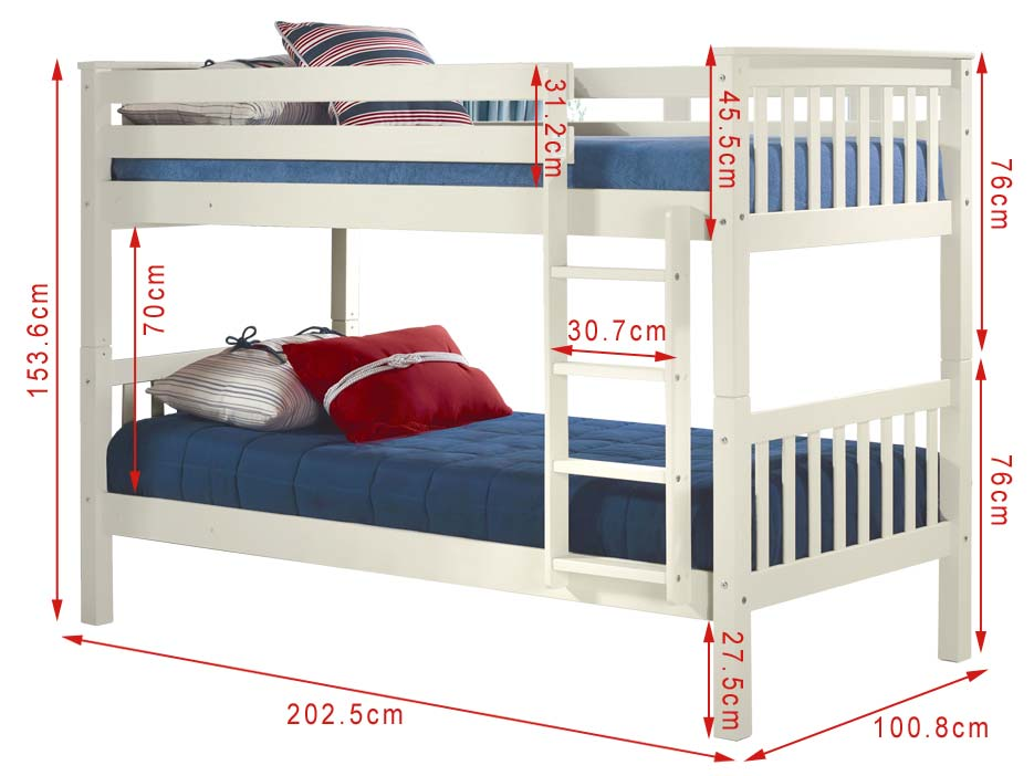 Double Decker Single Bed Size