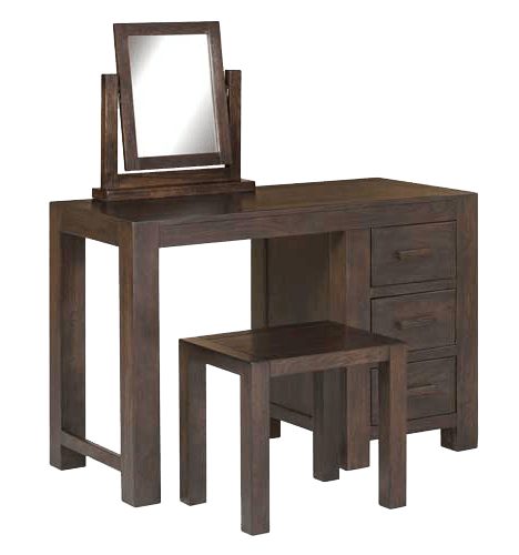 Pacific solid dark oak dressing table mirror walnut