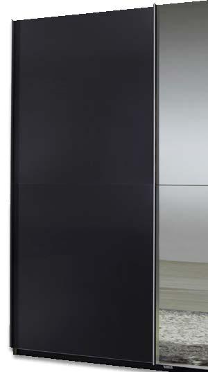 Evoque sliding mirrored wardrobe in lava grey furniture123 for Furniture 123 code