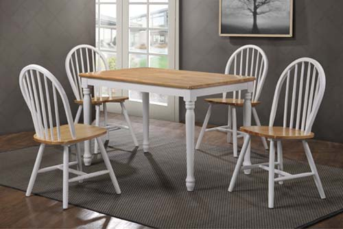 Grade a rhode island rectangular dining table in soft