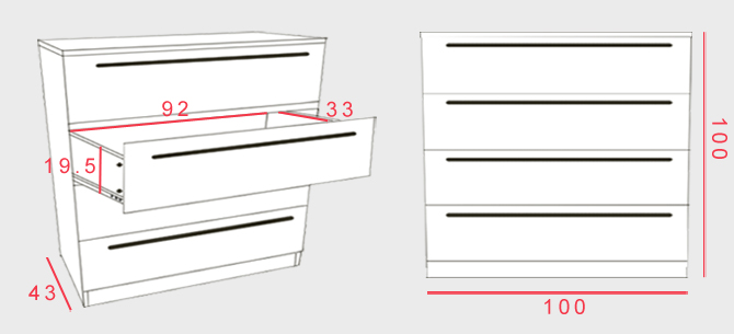 Space_wide chest of drawers dimensions