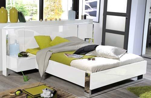 Sciae sunrise 36 kingsize bed in white high gloss for Furniture 123 code