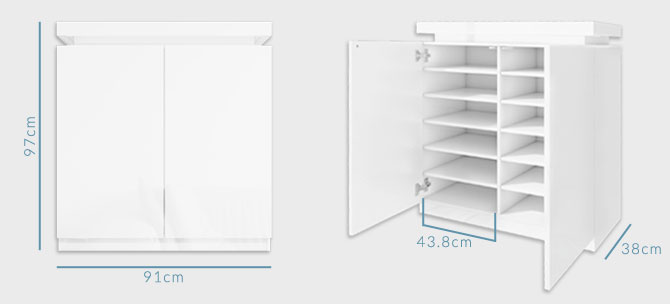 Tiffany shoe cabinet dimensions