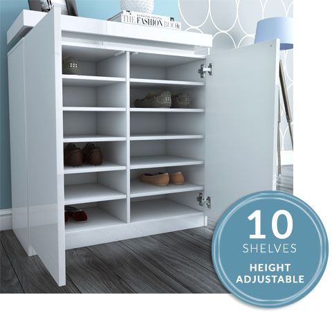 height adjustable shelving