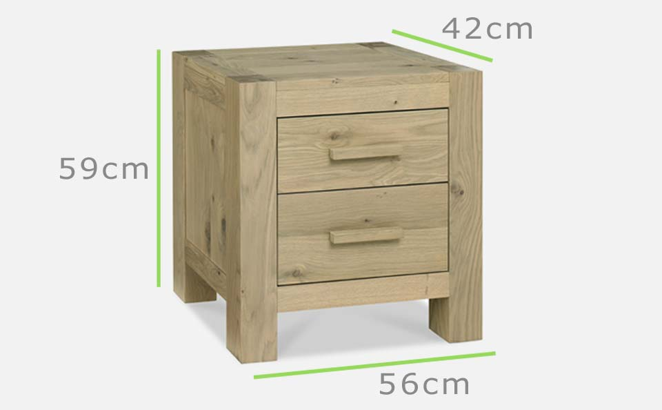 Turin bedside dimensions