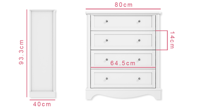 Victoria chest of drawers dimensions