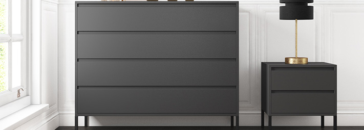 Austin Grey Bedroom Furniture Collection.