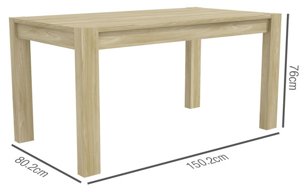 Bailey Dining Table Dimensions