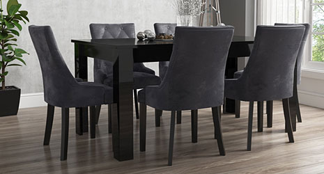 High Gloss Dining Collections Furniture 123