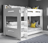 White Bunk Beds.