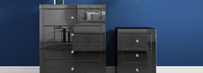 Eva Mirrored Bedroom Furniture Collection.