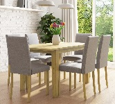 Extending dining table and chairs set