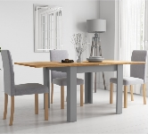 Grey 4 Seater Extending Dining Sets