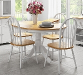 White 4 Seater Extending Dining Sets