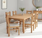 6 Seater Wooden Dining Table and Chairs.