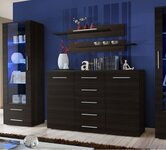 Black Display Cabinets.