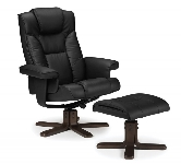 Black recliner armchairs